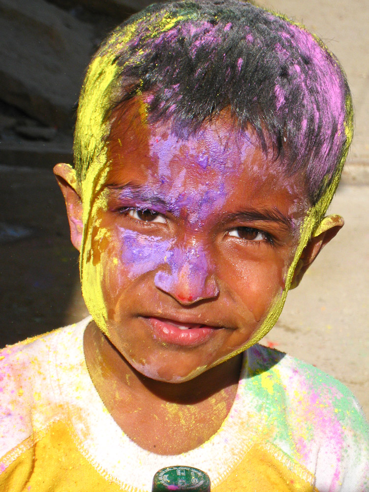 Holi en Inde - Enfant Jaisalmer