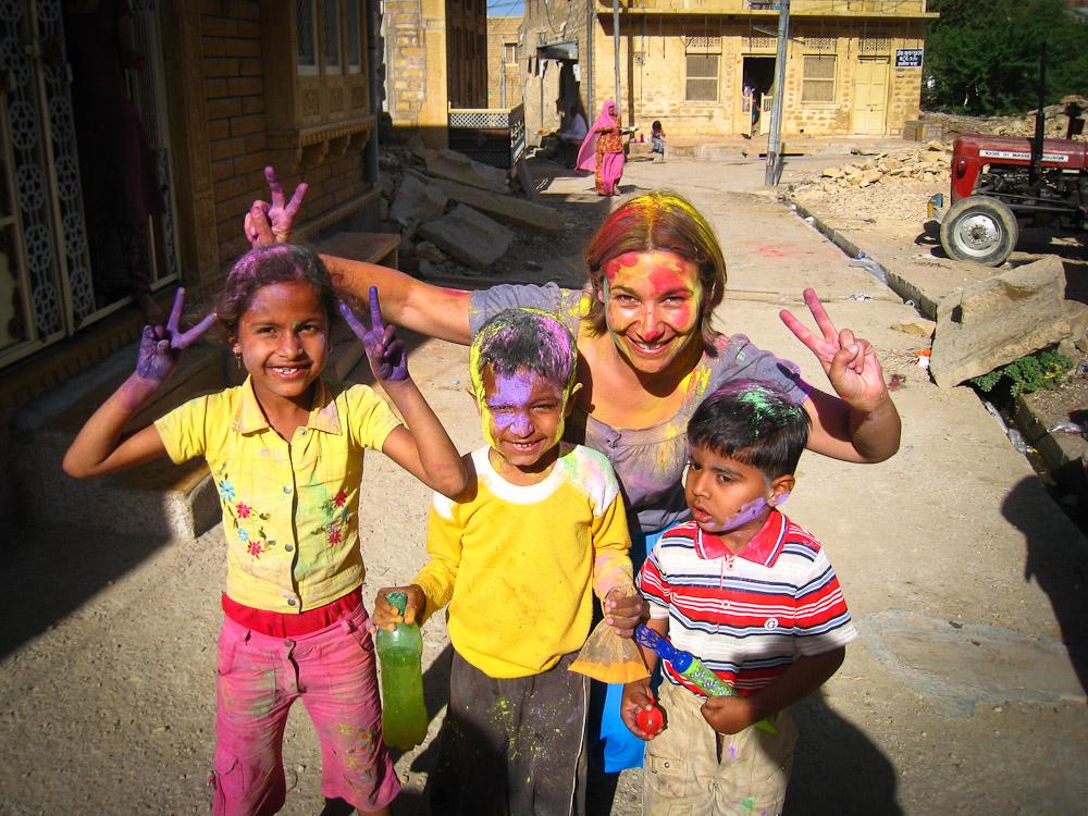 Fêter Holi en Inde - Jaisalmer