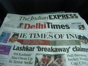 Retour en Inde pour une page de publicité