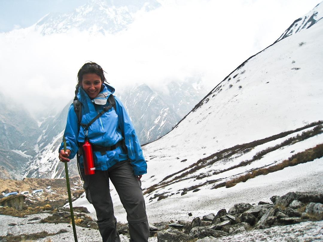 Dernière montée avant le camp de base des Annapurnas - Népal