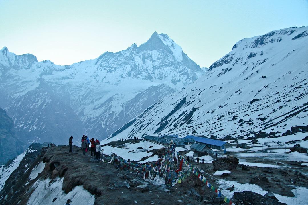 Lever de soleil au camp de base des Annapurnas - Népal