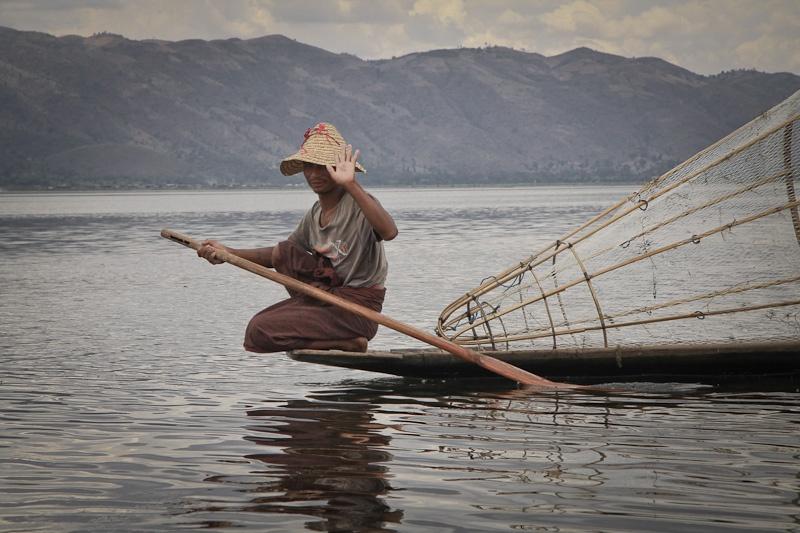 Le pêcheur du lac Inlé Birmanie