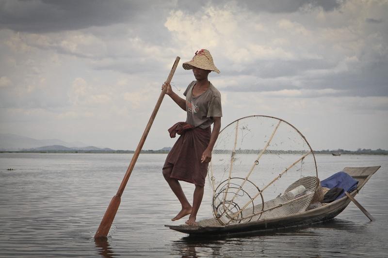 Le pêcheur du lac Inlé - Birmanie