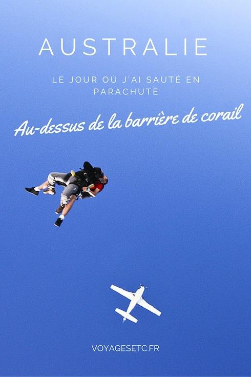 Lors de mon passage en Australie pendant mon tour du monde, j'ai décidé de faire un saut en parachute. Je me suis arrêtée à Mission Beach sur la barrière de corail