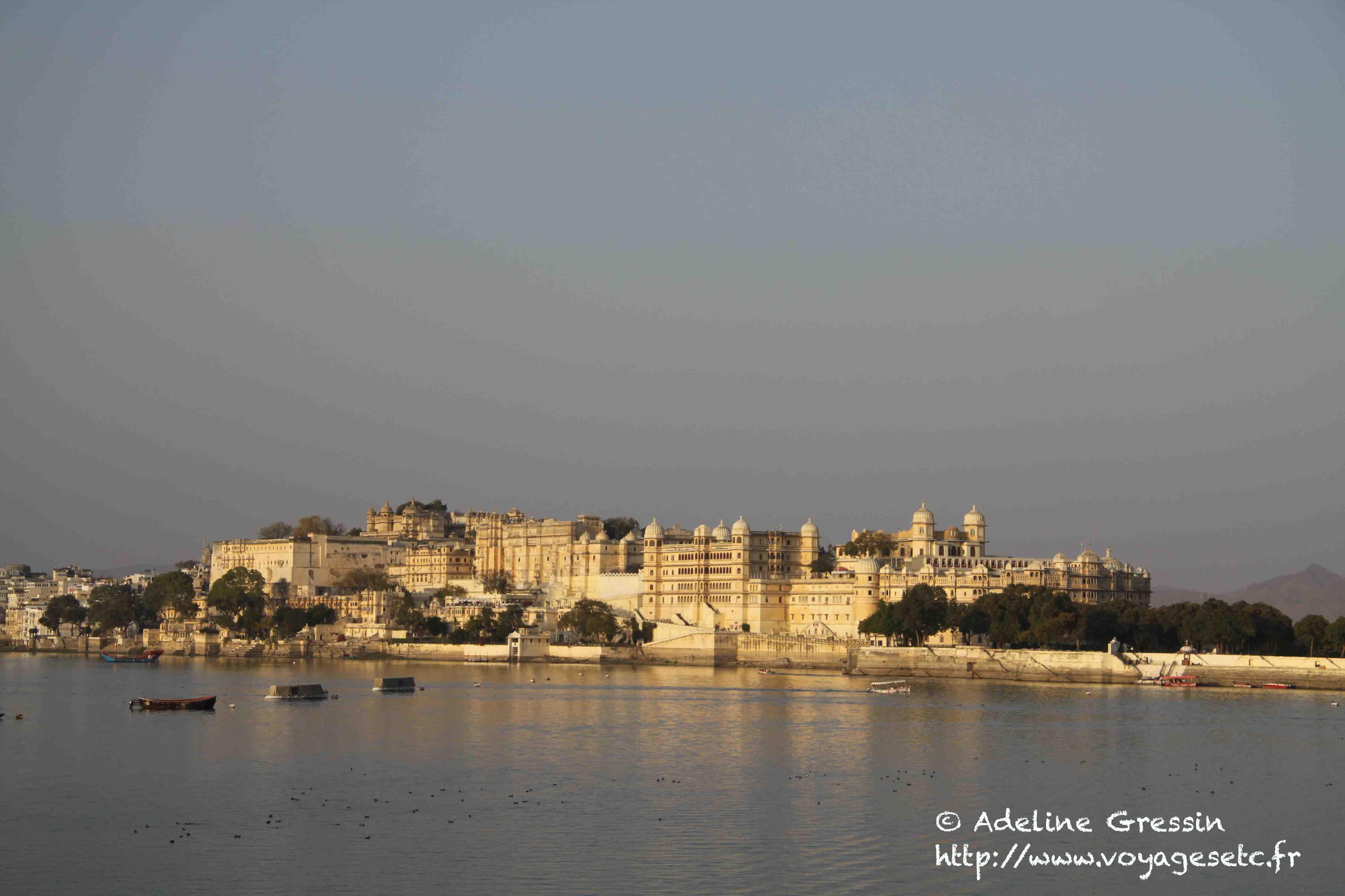 Villes au monde où il fait bon flâner - Udaipur Vue du lac 2