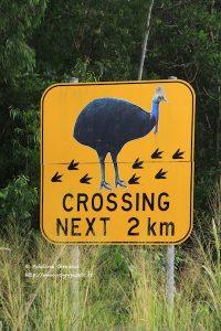 Panneau en Australie