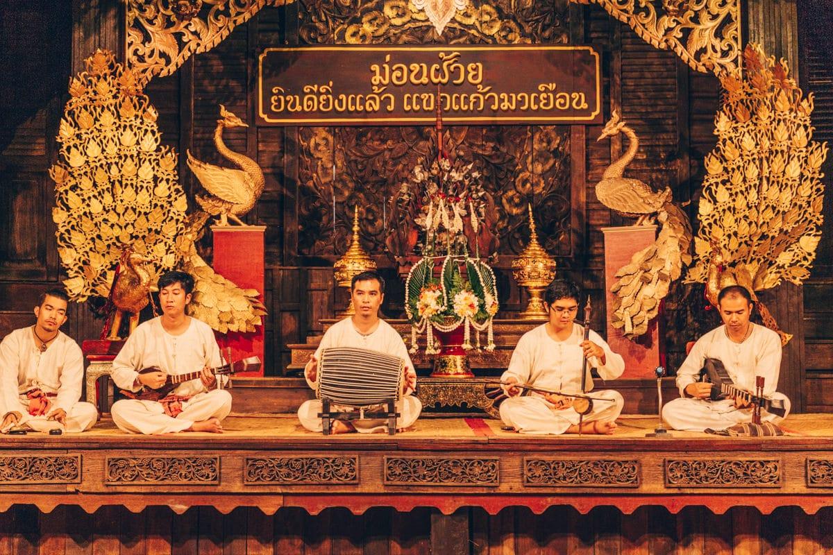 Musique traditionnelle Lanna à Chiang Mai - Thaïlande