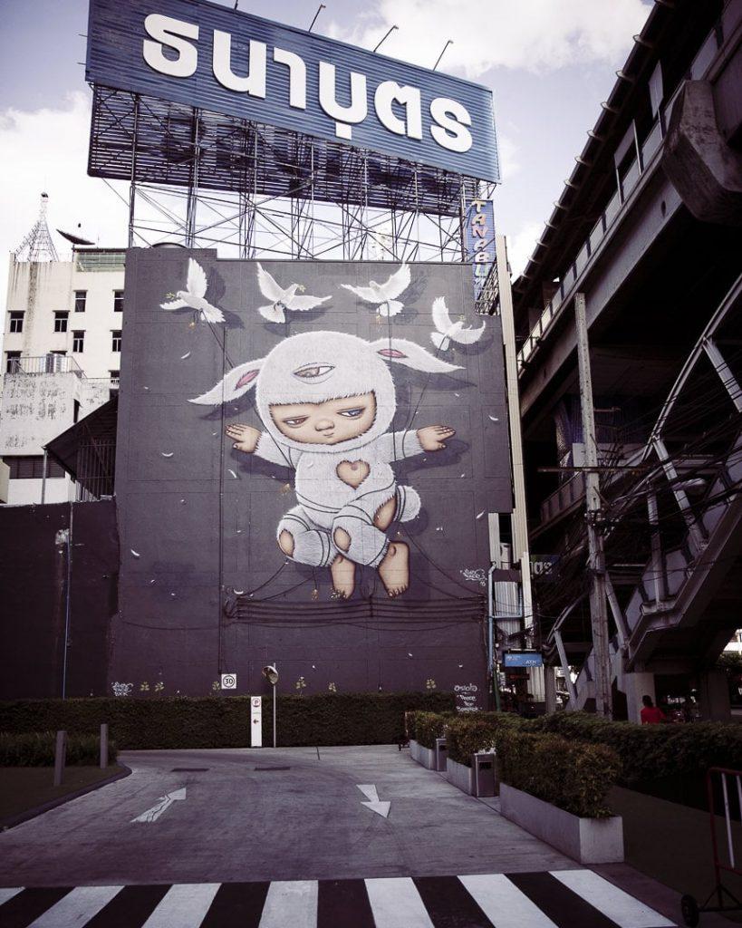streetart à Bangkok - Oeuvre de l'artiste thailandais Alex Face
