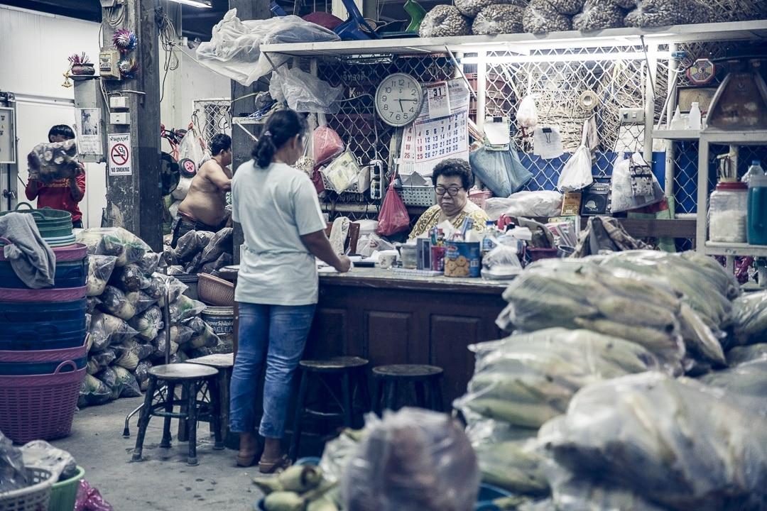 Le marché aux fleurs de Bangkok Pat Klong Market