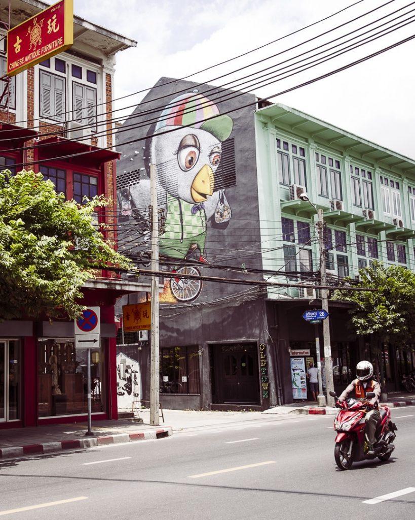 Streetart dans le vieux Bangkok - Thaïlande