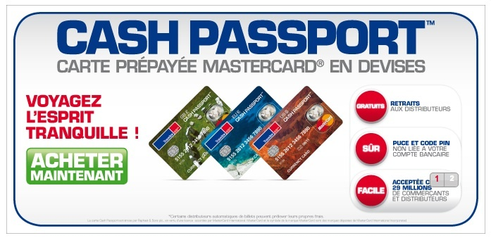 Carte bancaire et argent en voyage - Cash Passport