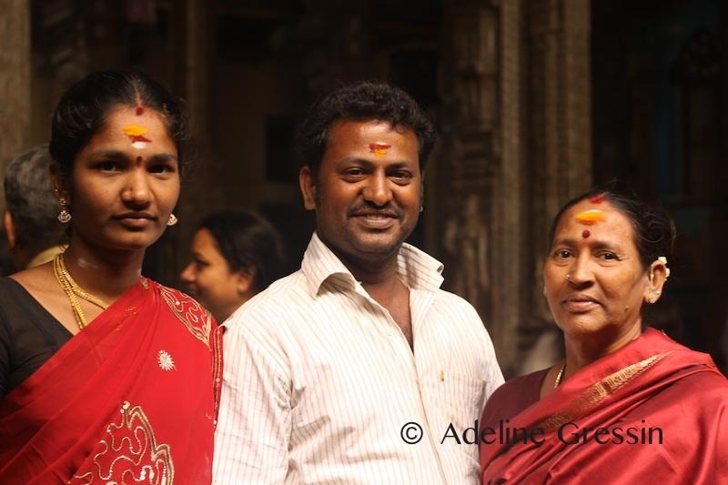 Voyager seule en Inde - dans le temple de Madurai