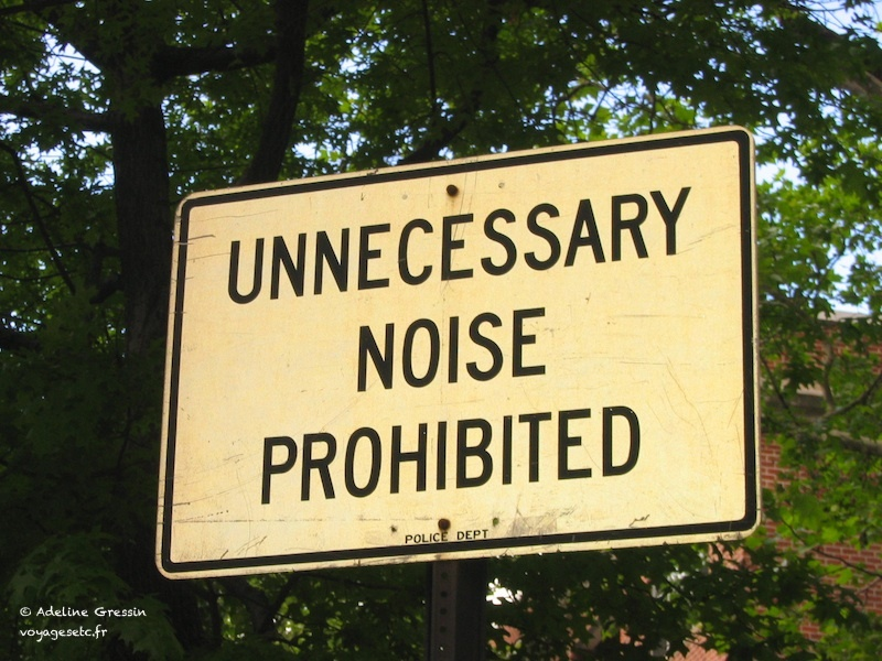 Unnecessary noise prohibited New York