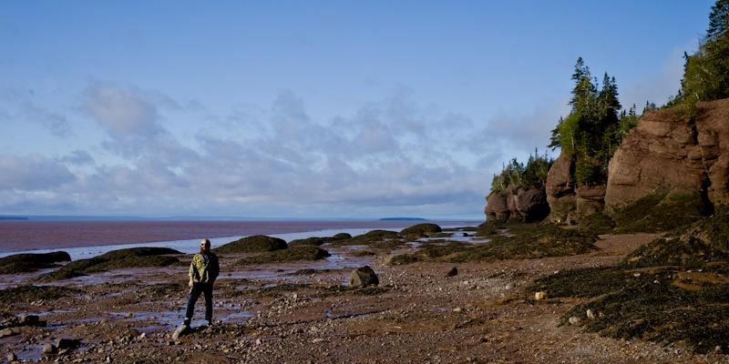 les plus hautes marées du monde dans la baie de Fundy Nouveau Brunswick