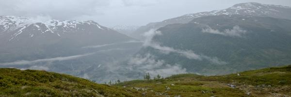 Norvège Myrkdalen au dessus des nuages 2