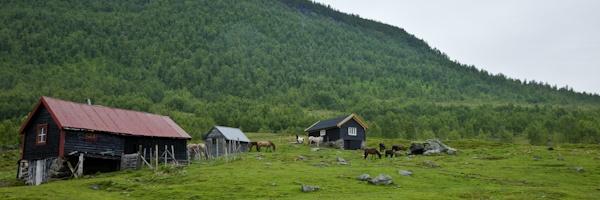 Norvège Myrkdalen départ de la randonnée