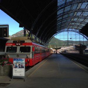 Norvège - Train gare de Bergen