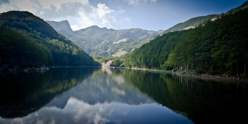 Randonner en Italie Le lac du refuge Lagoni