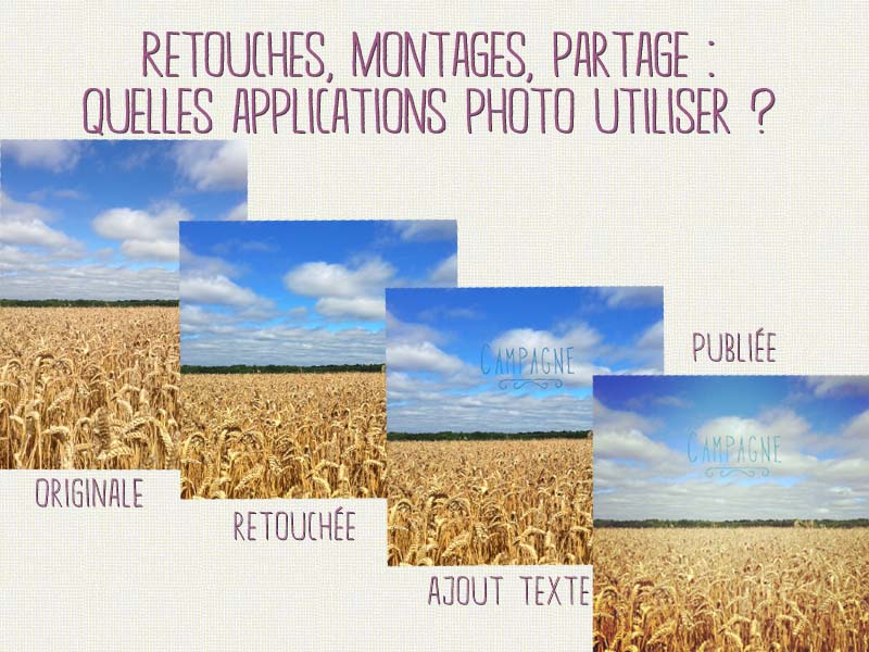Quelles applications photo pour smartphone
