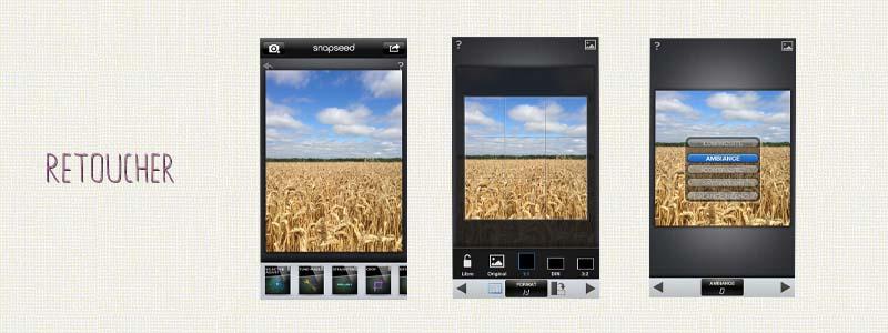 Application Iphone pour retoucher ses photos