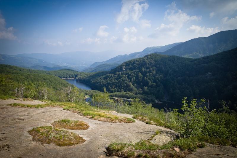 Randonner en Italie - Vue sur le parc des 100 lacs