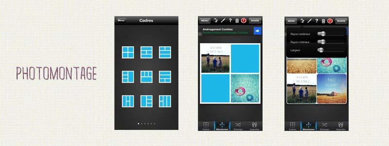 Applications Iphone pour réaliser des photomontages