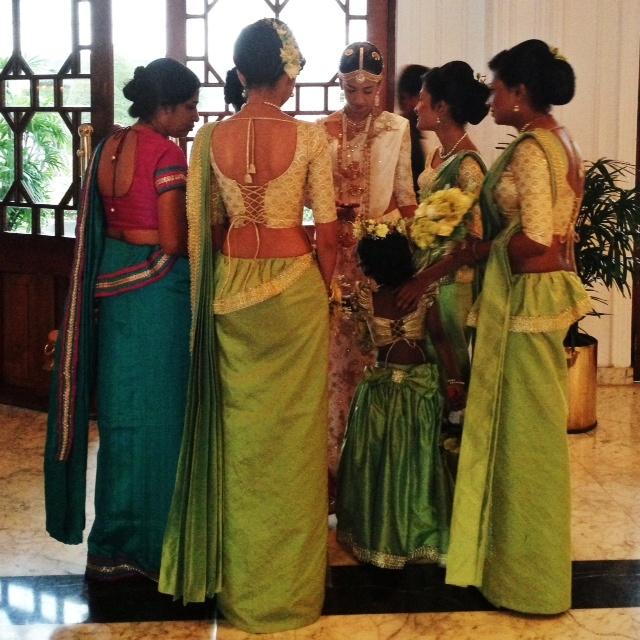Jour de mariage au Sri Lanka - Les saris
