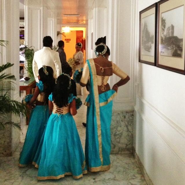 Jour de mariage au Sri Lanka - dans le hall