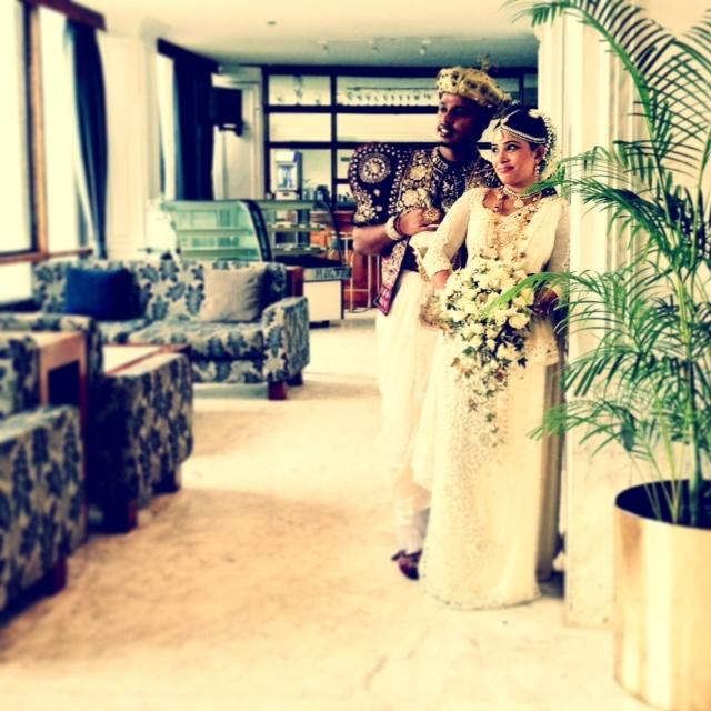 Jour de mariage au Sri Lanka - les beaux mariés