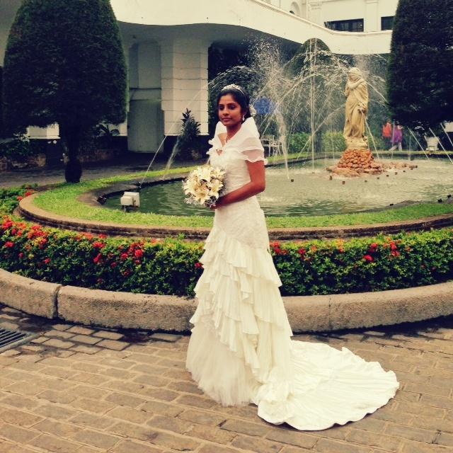 Mariage au Sri Lanka - la mariée meringue