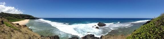 Vue panoramique sur la plage de Gris-Gris
