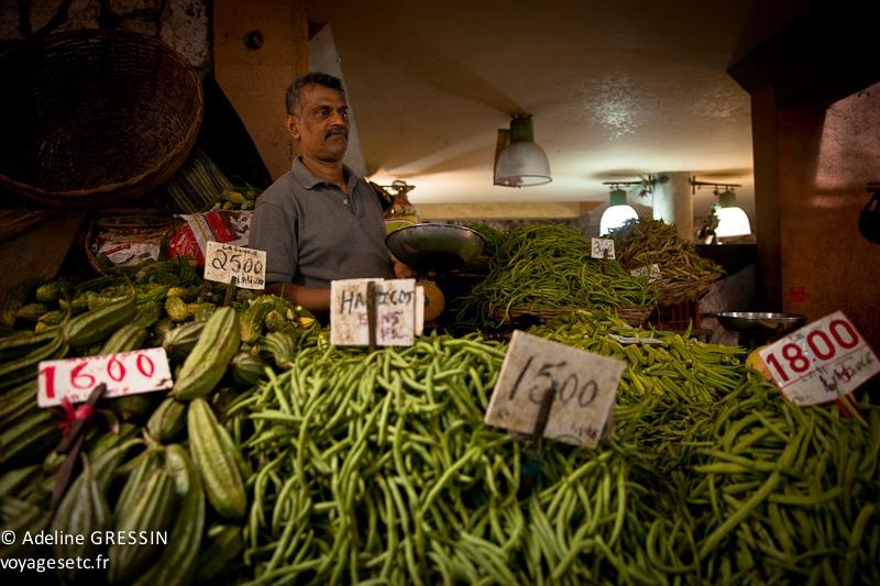 Marché de l'ile Maurice - Monsieur verdures