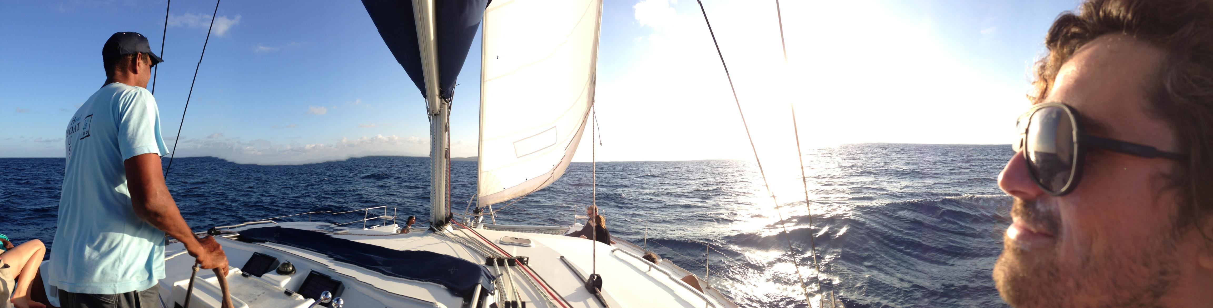 Panoramique Ile maurice - Retour de l'ile plate