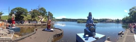 Ile Maurice - Vue sur le lac sacré