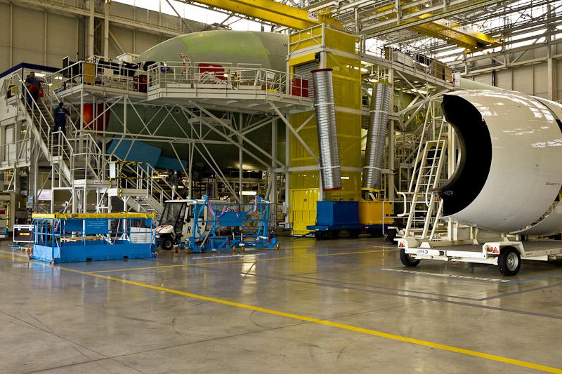 Airbus A380 - Pose du réacteur