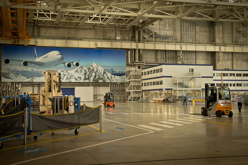 Airbus A380 - dans l'usine