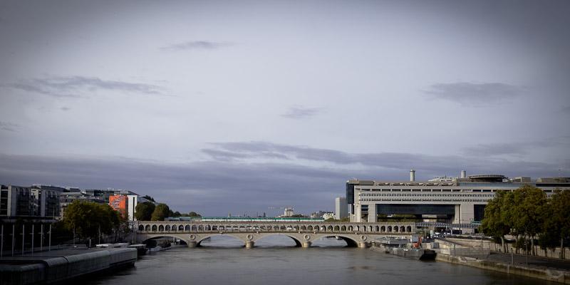 Que faire à Paris Bercy - vue sur Bercy depuis Passerelle Simone de Beauvoir