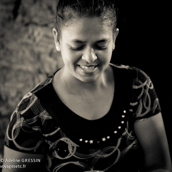 Sourire du Sri Lanka - un regard