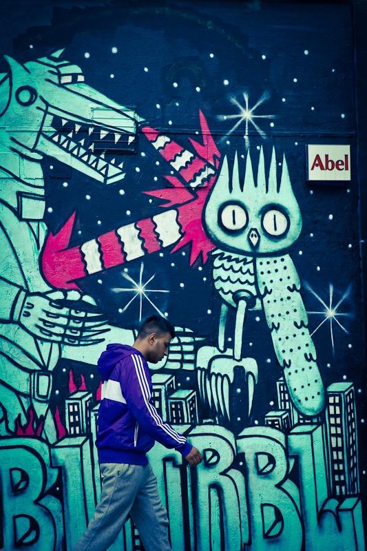 Street art à Londres - Abel