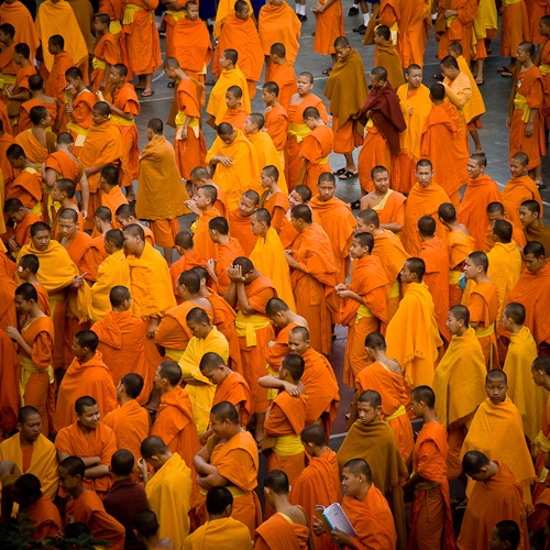 Chiang mai thailande - rassemblement des moines novices