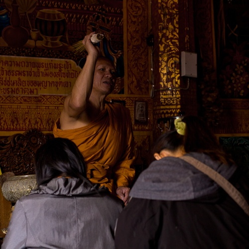 Chiang Mai - Bénédiction au Doi Suthep