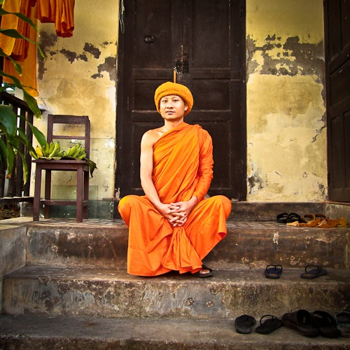 Chiang Mai - Moine du Wat Phra Singh
