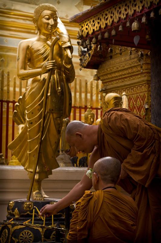 Chiang Mai - Moines Au doi Suthep