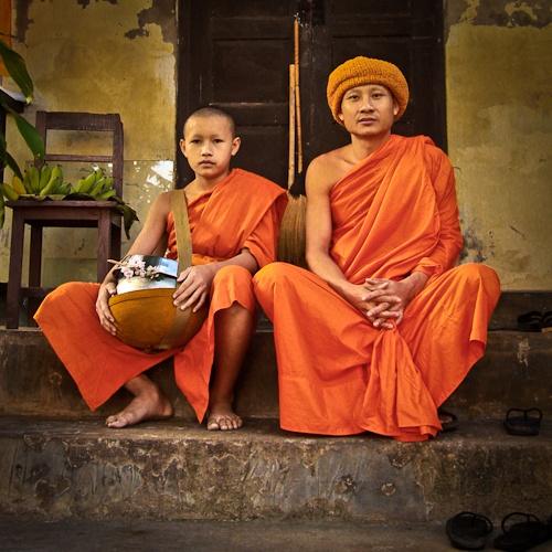 Moine Chiang Mai - Novice du Wat Phra Singh