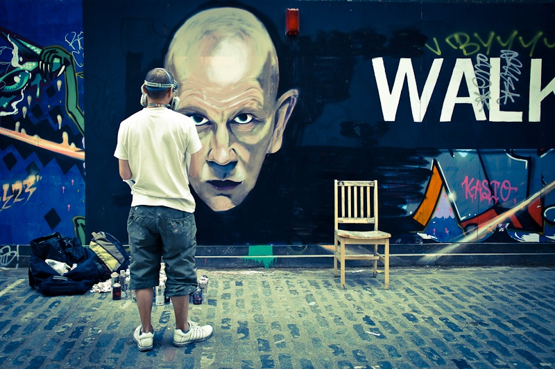 Street art a Londres - Face to face