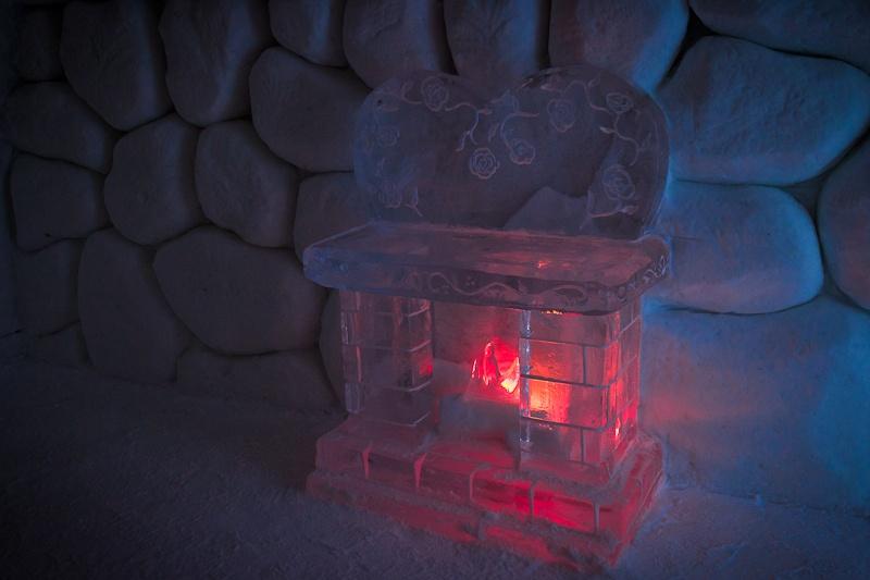 Hotel de glace - Au coin du feu