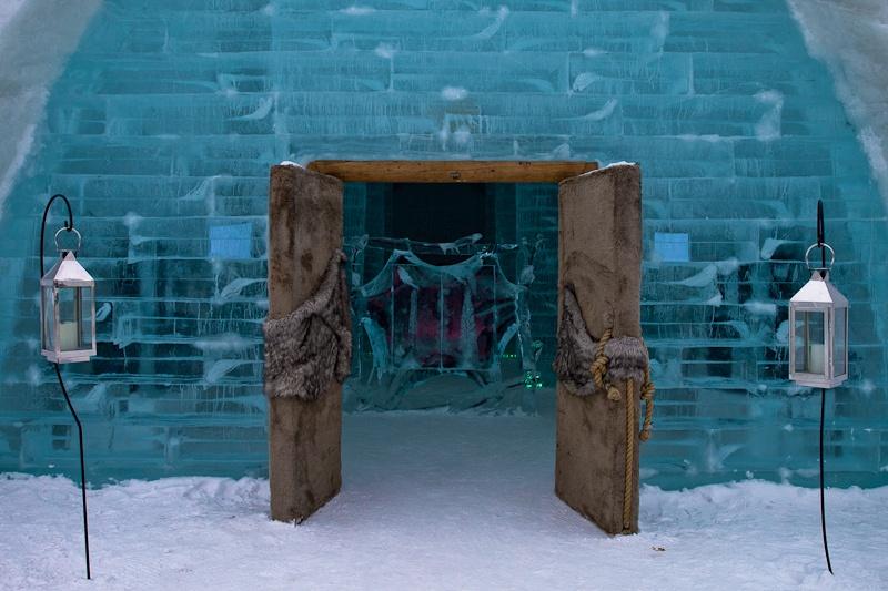 Hotel de glace - Entrée de l'hôtel