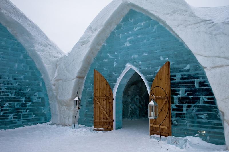 Hotel de glace quebec - Entrée