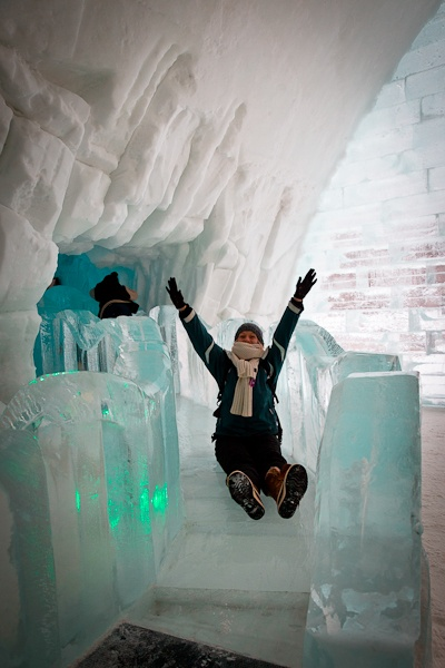 Hotel de glace - Marion Toboggan