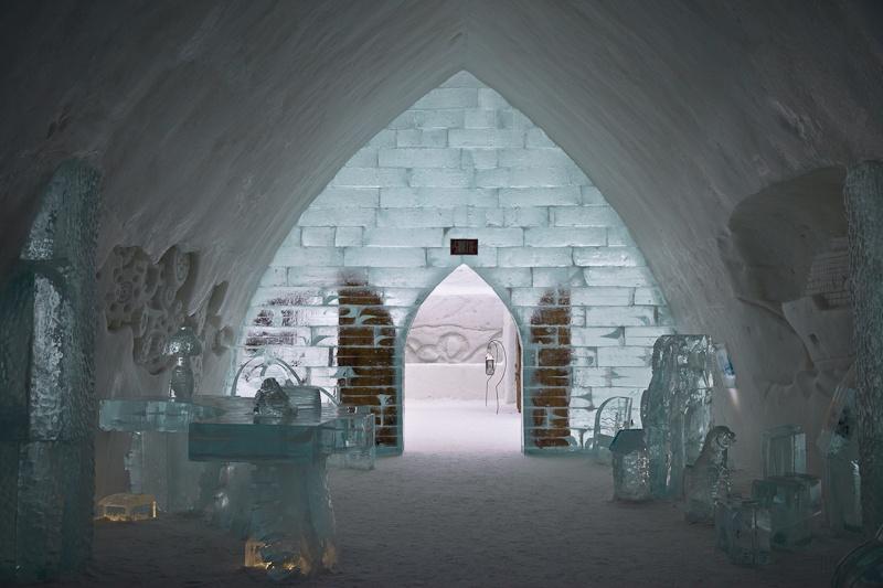 Hotel de glace - Réception